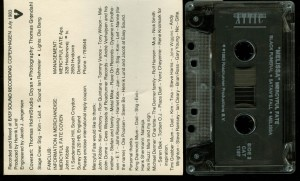 Mercyful Fate Melissa Attic Records Clear Tape back