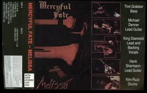 Mercyful Fate Melissa Cassette Metal Mind