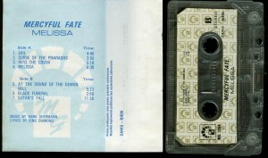 Mercyful Fate Melissa Cassette Poland MG Records back