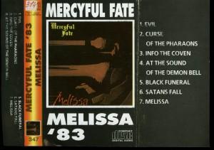 Mercyful Fate Melissa Cassette Russian Pressing Music City 347 inlay
