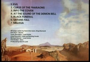 Mercyful Fate Melissa Cassette Russian Pressing Music City 347 inlay back