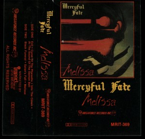 Mercyful Fate Melissa Megaforce Cassette Second Press Clear Tape