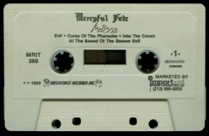 Mercyful Fate Melissa Megaforce First Press White Tape side a