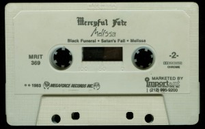 Mercyful Fate Melissa Megaforce First Press White Tape side b