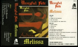 Mercyful Fate Melissa Music For Nations Clear Cassette inlay