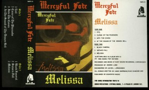 Mercyful Fate Melissa Music for Nations White Tape