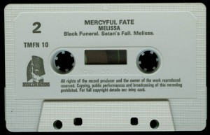 Mercyful Fate Melissa Music for Nations White Tape side b