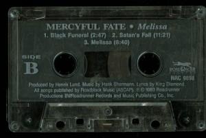 Mercyful Fate Melissa roadracer Clear cass side b