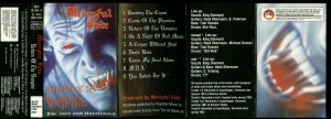 Mercyful Fate Return Of The Vampire Metal Mind Cassette inlay