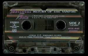 Mercyful Fate Return Of The Vampire Metal Mind Cassette side 2