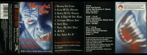 Mercyful Fate Return Of The Vampire Roadracer Cassette inlay