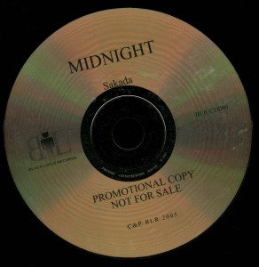 Midnight Sakada Promo Cd disc