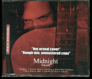 Midnight Sakada Rough Mix Unmastered Promo Cd
