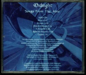 Midnight Songs From the Attic Midnight Version back