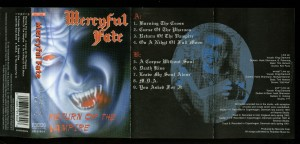 Mercyful Return Of The Vampire Koch Cassette inlay