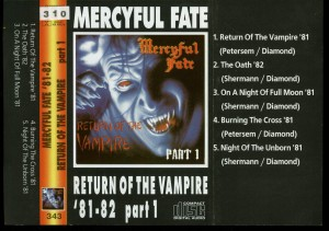 Mercyful Return Of The Vampire Part 1 Cassette inlay