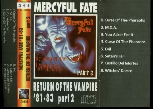 Mercyful Return Of The Vampire Part 2 Cassette