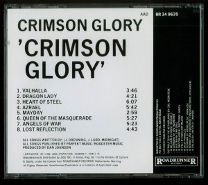 Crimson Glory Crimson Glory Korea CD back