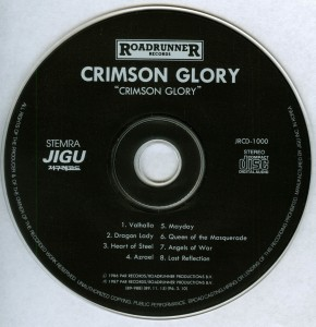 Crimson Glory Crimson Glory Korea CD disc