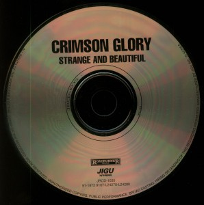 Crimson Glory Strange And Beautiful Korea CD Disc