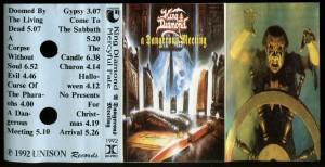 King Diamond Mercyful Fate A Dangerous Meeting Bulgaria Cassette