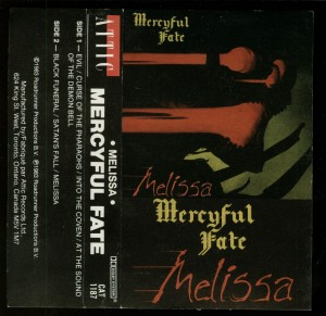 Mercyful Fate Melissa Canada Black Tape inlay