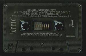 Mercyful Fate Melissa Canada Black Tape side 1