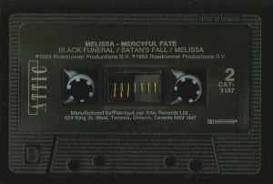 Mercyful Fate Melissa Canada Black Tape side 2