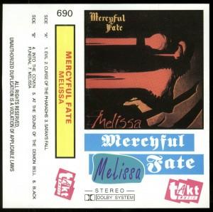 Mercyful Fate Melissa Poland Cassette TAKT 690