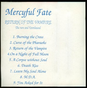 Mercyful Fate Return Of The Vampire Bulgaria Cassette back