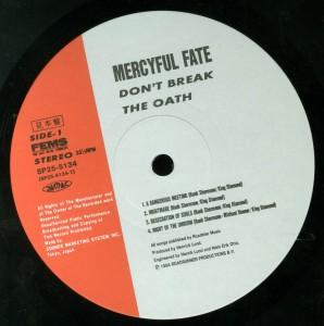 Don't Break The Oath Japan Promo label side 1