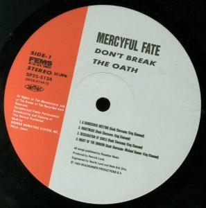 Don't Break The Oath Japan label side 1