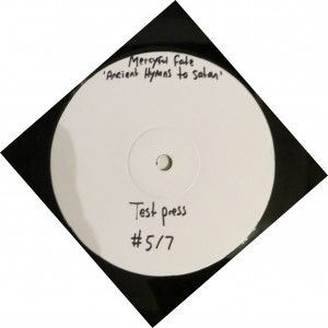 Mercyful Fate Ancient Hymns To Satan test press label