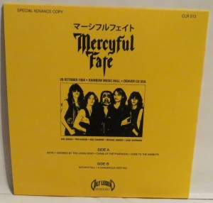 Mercyful Fate Hells Preacher Vol. 1 Yellow Vinyl LP back
