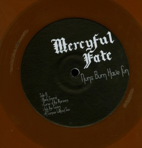 Mercyful Fate Nuns Burn Have Fun Orange Vinyl LP label side 1