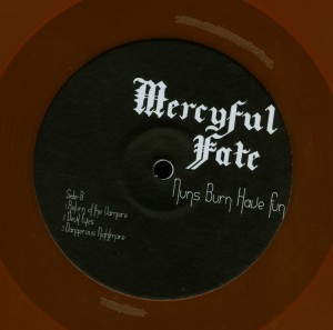 Mercyful Fate Nuns Burn Have Fun Orange Vinyl LP label side 2