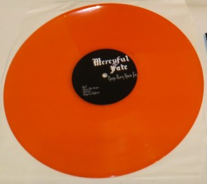 Mercyful Fate Nuns Burn Have Fun orange vinyl side b
