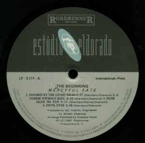 Mercyful Fate The Beginning Brazil LP label side 1