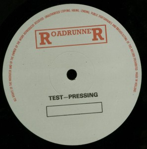 Mercyful Fate The Beginning Test Press with Test Press Label label side 2