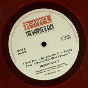 Mercyful Fate The Vampire Is Back Red Vinyl LP label side a