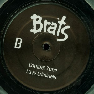 Brats Death Kiss Clear Vinyl LP label side b