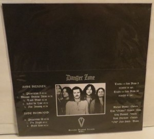 Danger Zone Danger Zone Demos Brown Marbled LP back