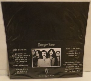 Danger Zone Danger Zone Demos Dark Red Burgundy Haze  LP back