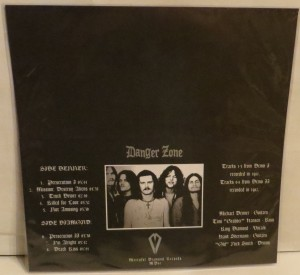 Danger Zone Danger Zone Demos Plain Dark Green Marbled LP back