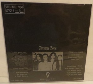 Danger Zone Danger Zone Demos Purple Marbled Test Color LP back