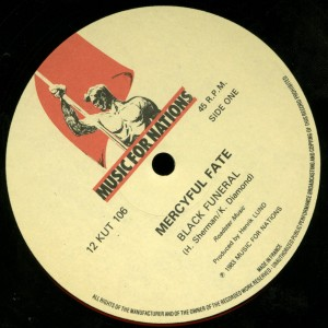 Mercyful Fate Black Funeral Black Masses 12'' Opens Right label side a
