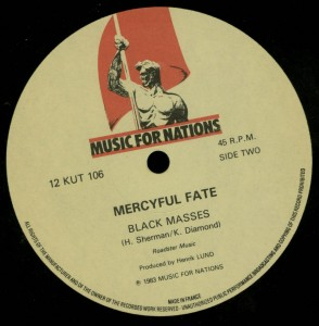 Mercyful Fate Black Funeral Black Masses 12'' Opens Right label side b