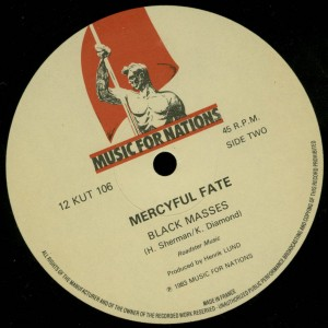 Mercyful Fate Black Funeral Black Masses 12'' Opens Up label side b
