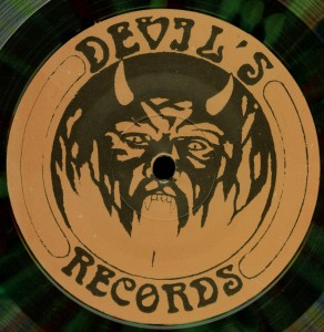 Mercyful Fate Black Message Multicolor Vinyl LP label side a