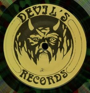 Mercyful Fate Black Message Multicolor Vinyl LP label side b